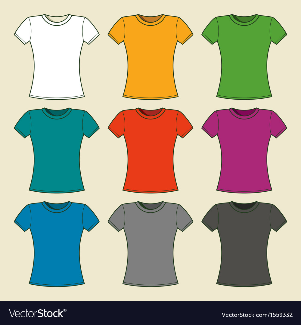 Colorful t-shirts template vector