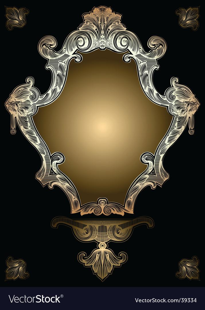 Decorative gold royal ornate banner vector
