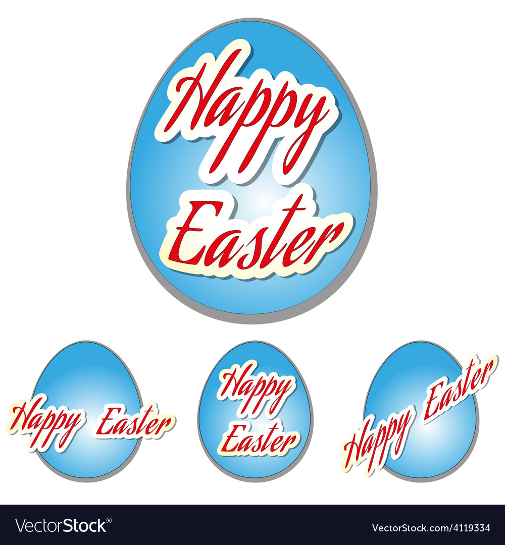 Easter set eggs vector