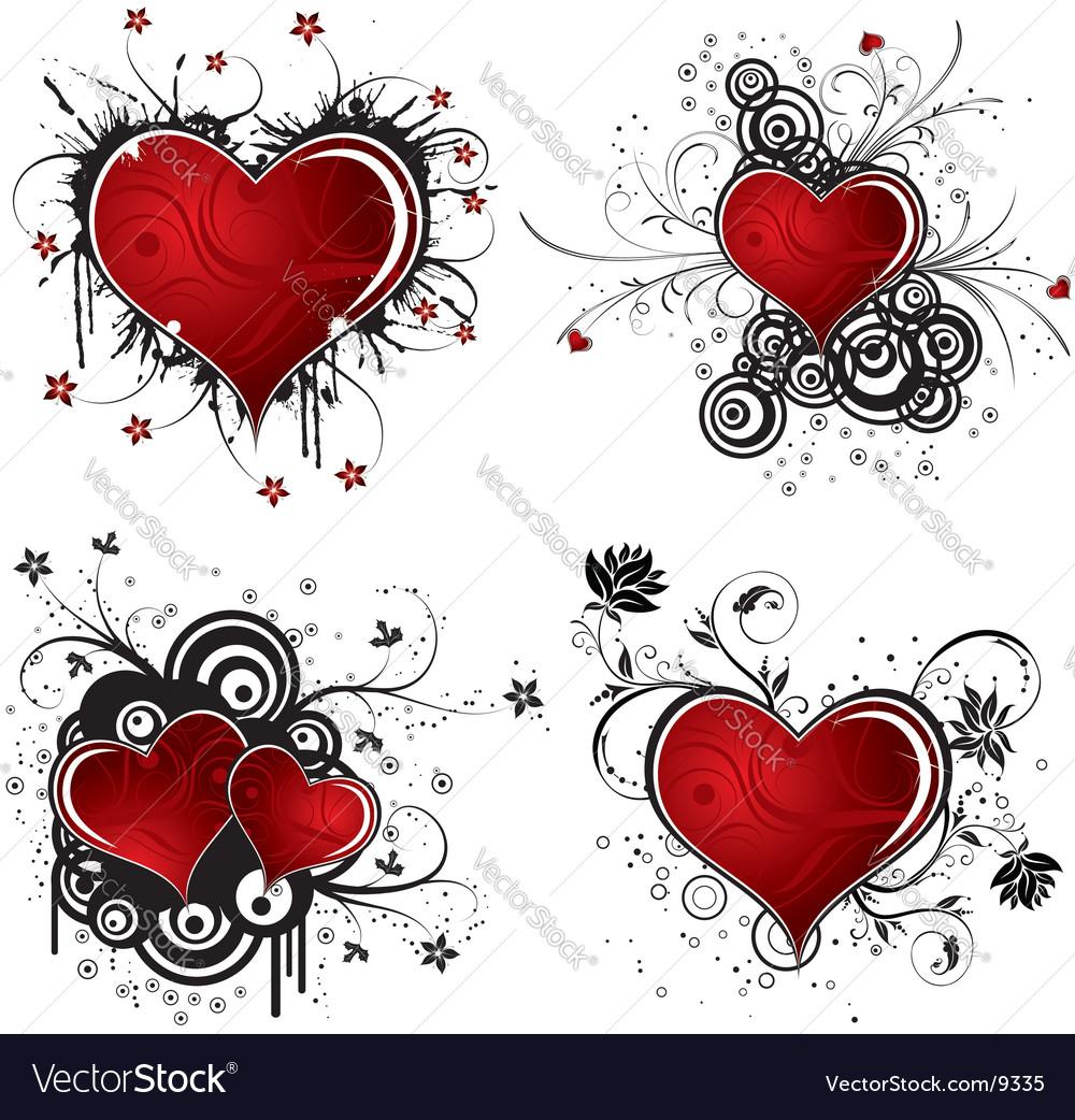 Background heart vector