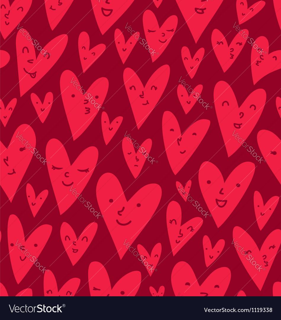 Valentines hearts pattern vector