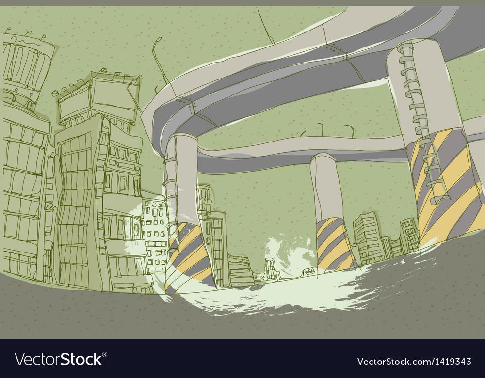 Creative city highway vector