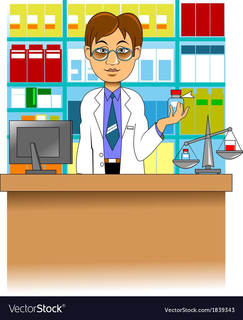 Pharmacist vector