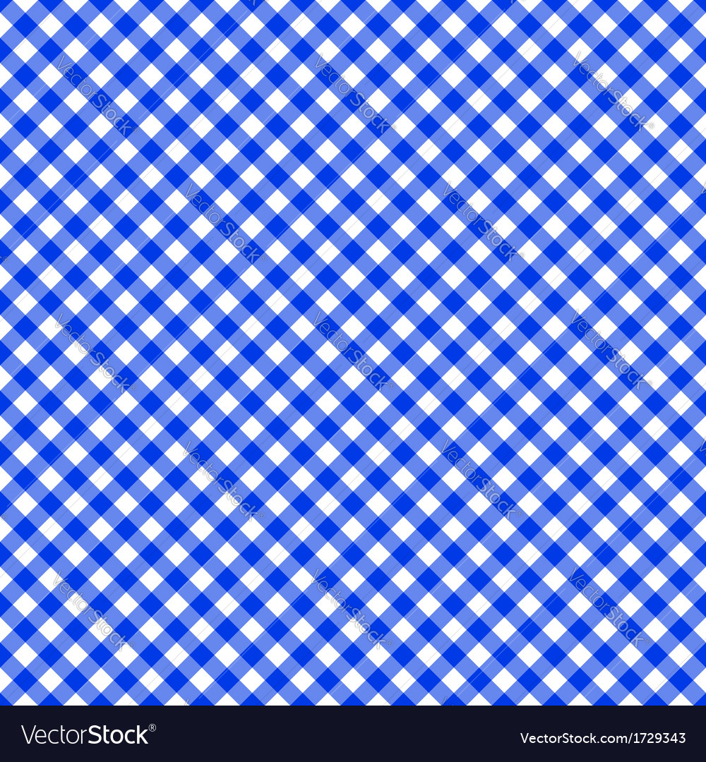 Table cloth seamless pattern blue vector