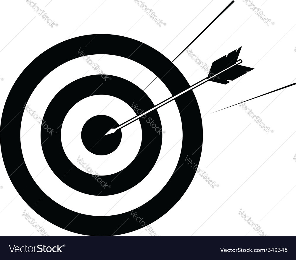 Target and arrow vector