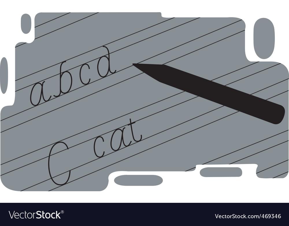 Handwriting vector