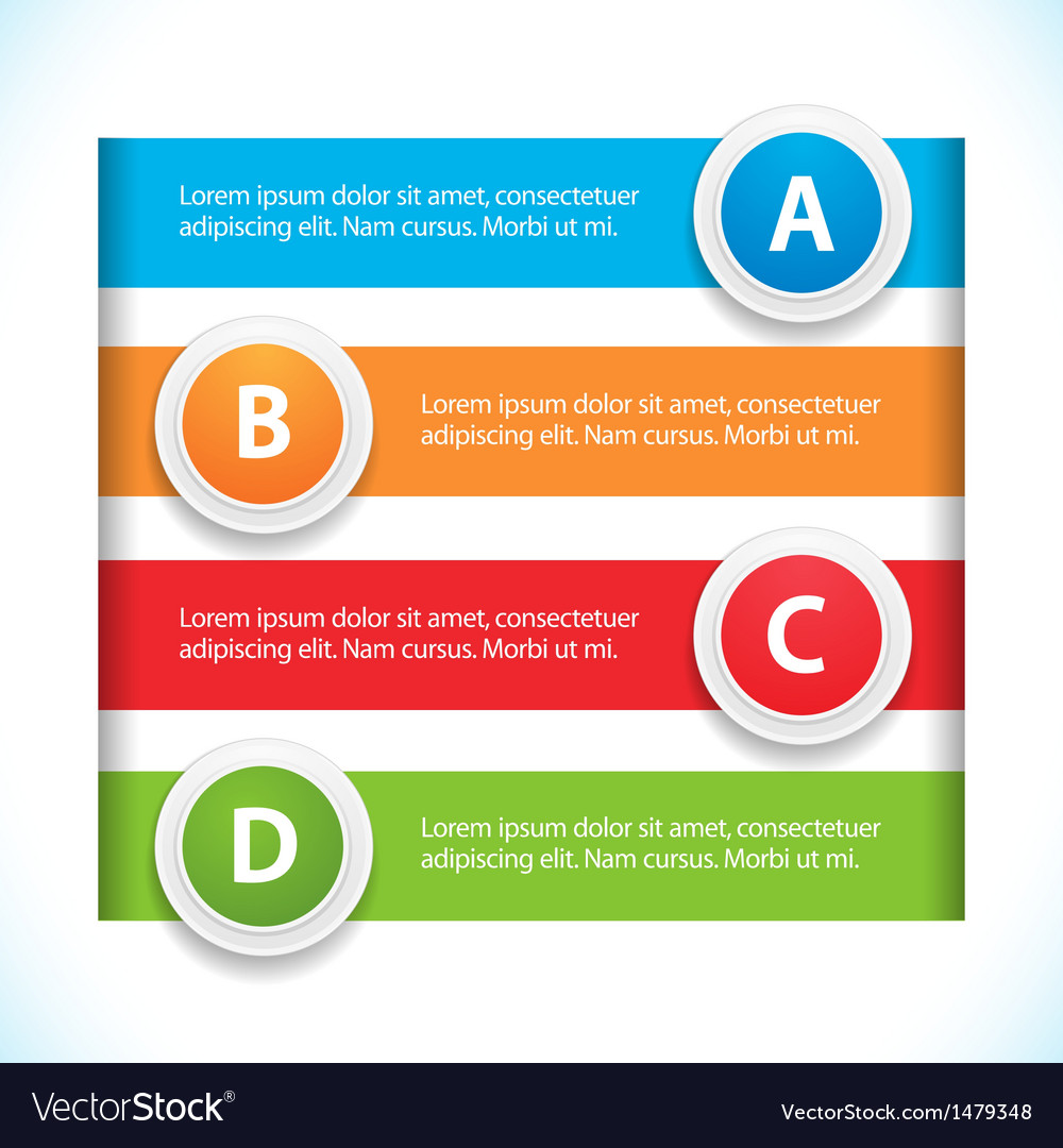 Banner and button infographic vector