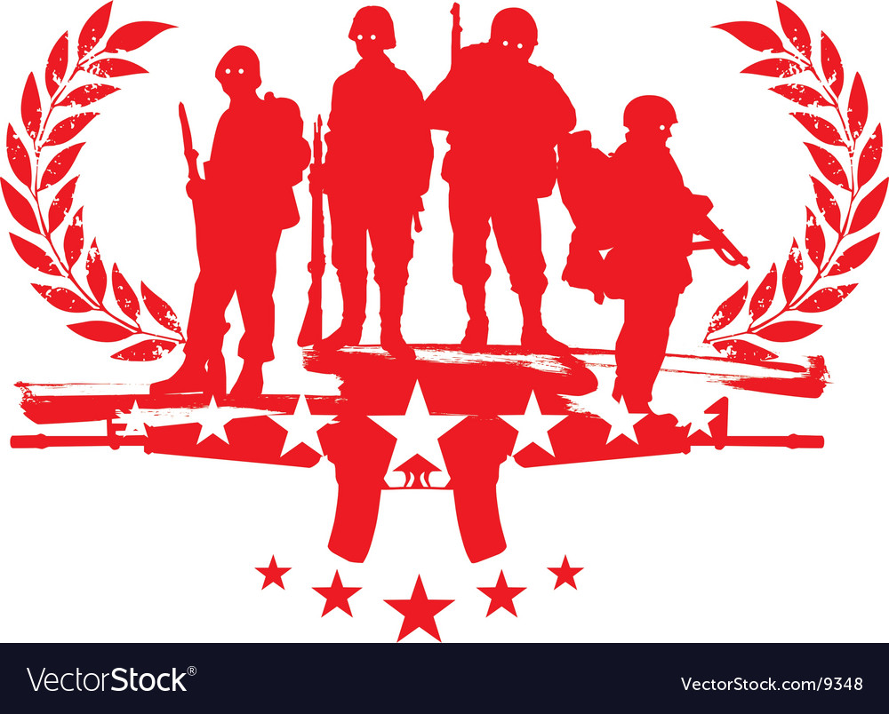 Soldiers with glories vector