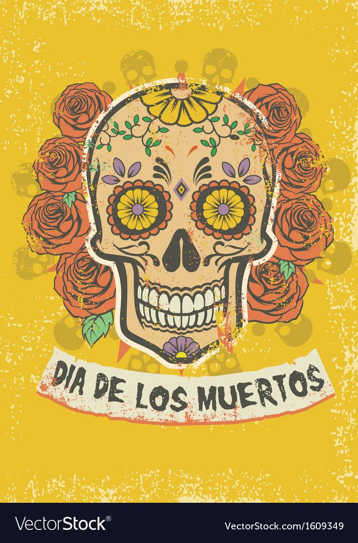Dia de los muertos poster vector