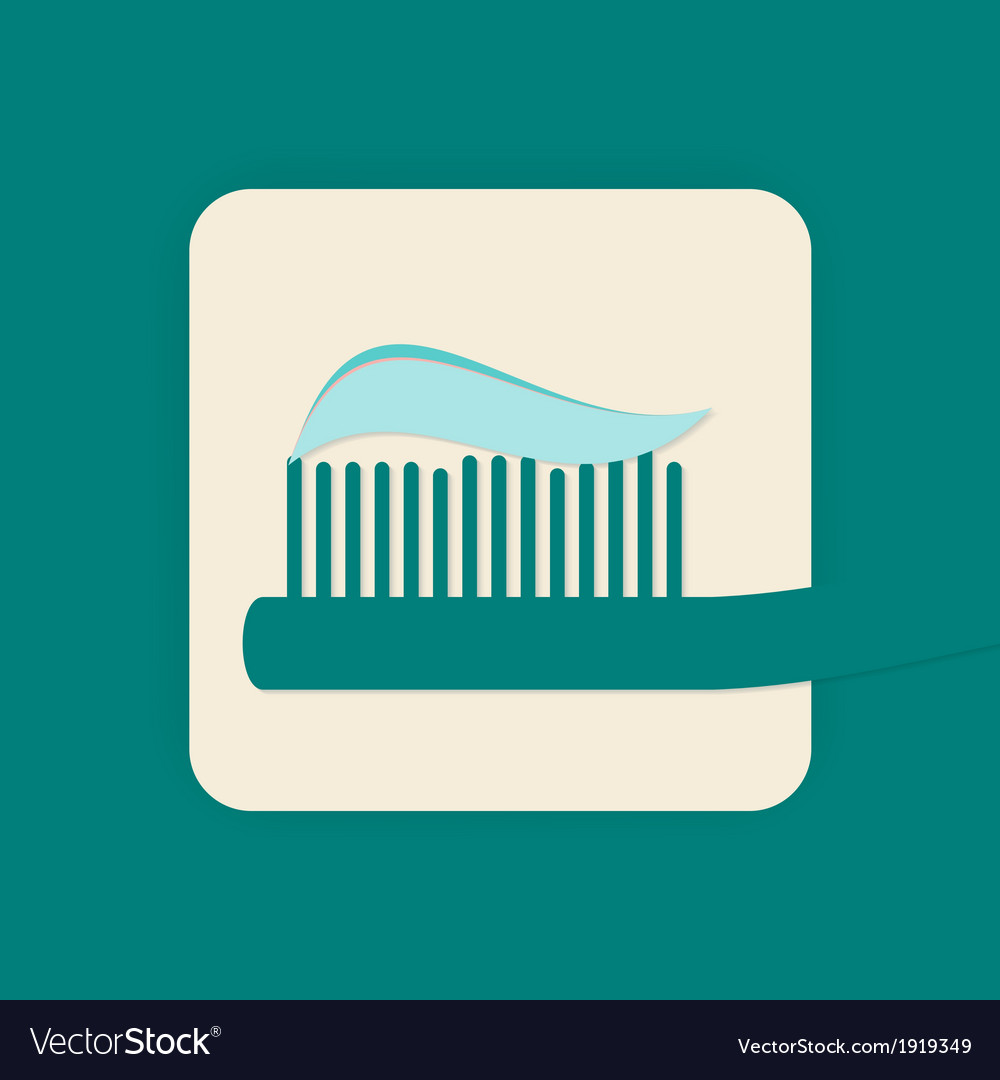 Toothbrush icon vector