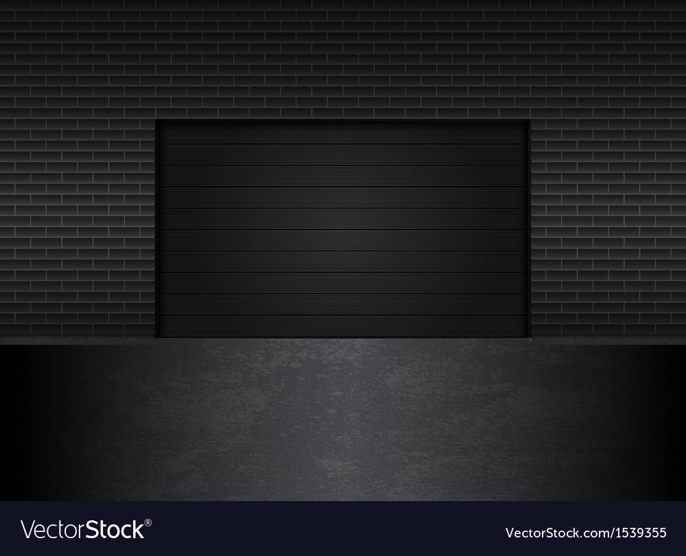 Garage gates vector