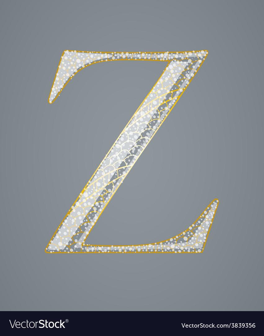 Abstract golden letter z vector
