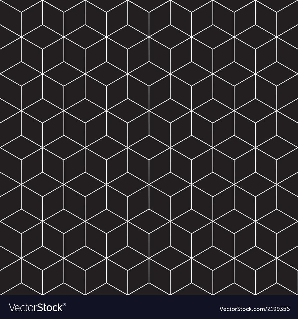 Pattern cube 3 vector