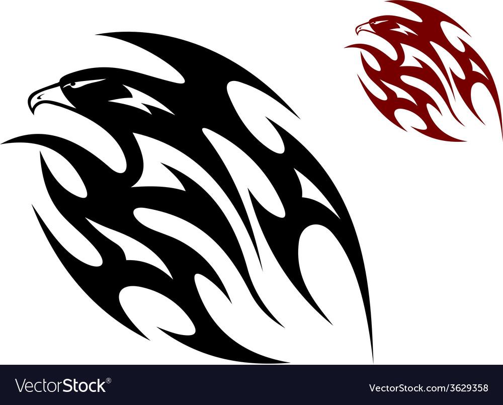 Tribal bird tattoo vector