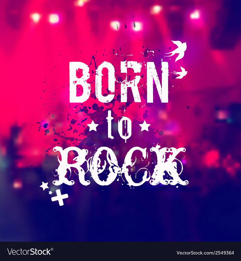 Blurred background with rock stage and crowd vector