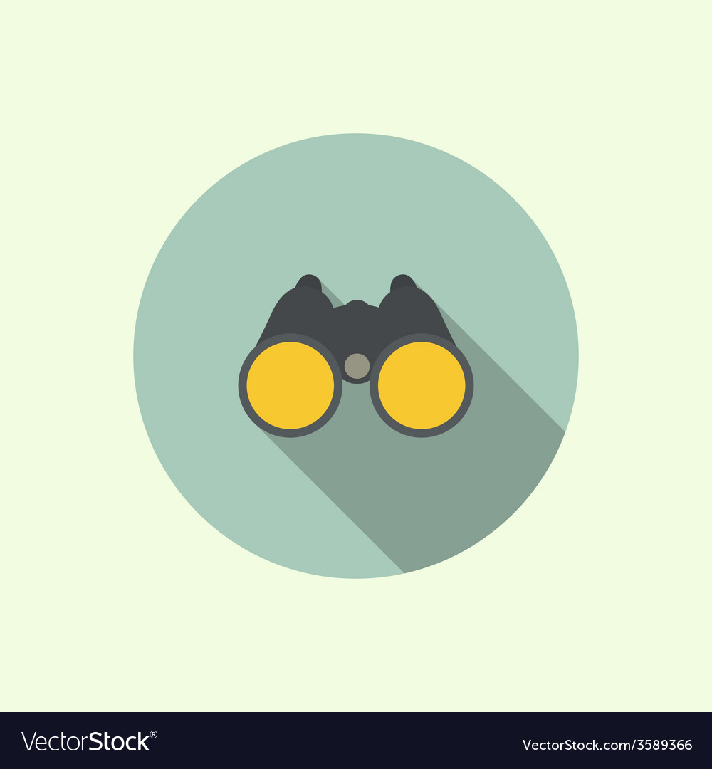 Icon of binoculars vector