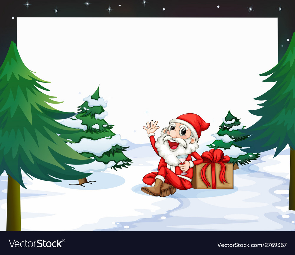 Banner with christmas vector