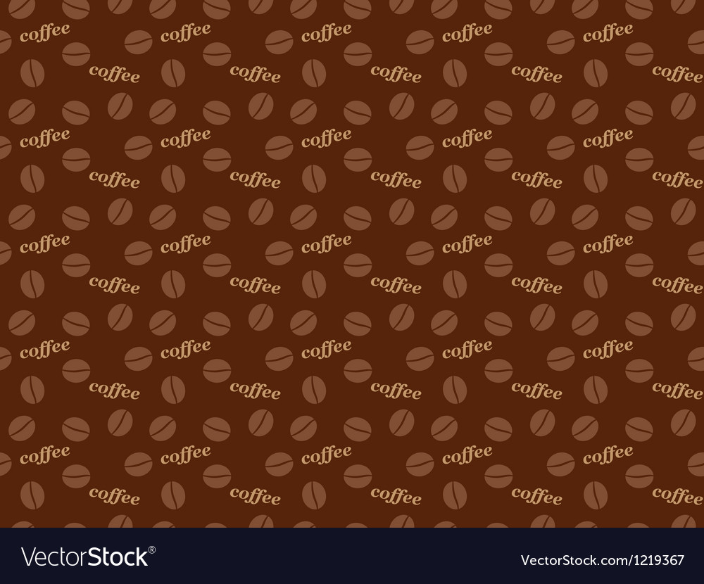 Seamless coffee grains pattern vector