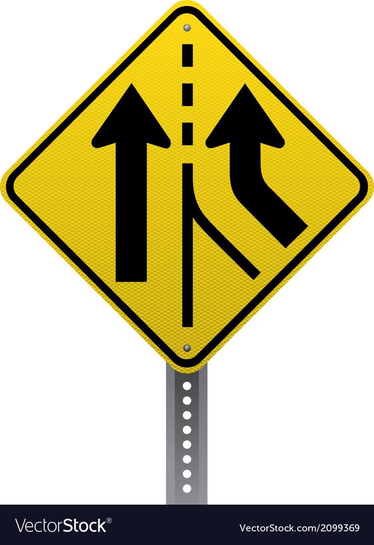 Added lane sign vector
