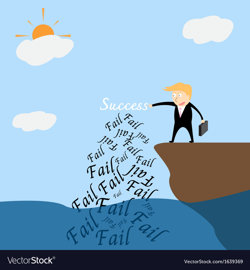 Business catching success vector