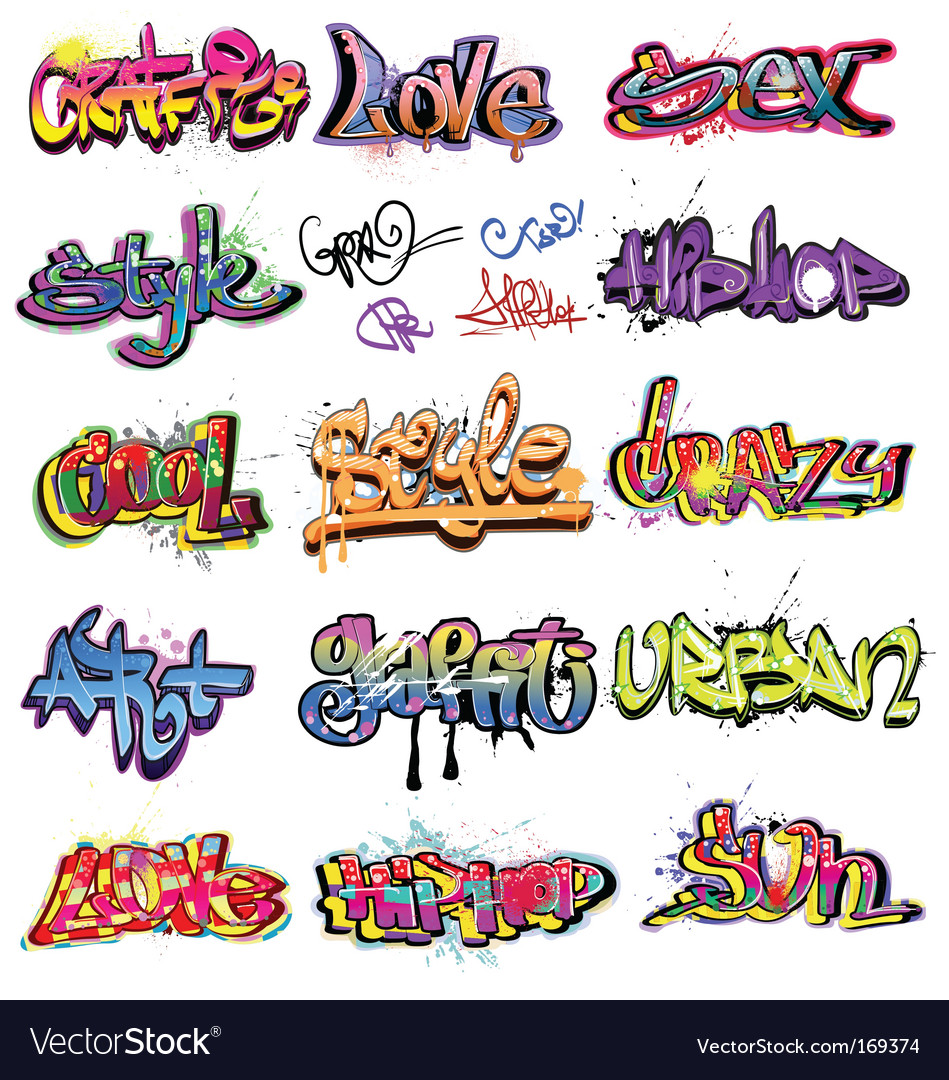 Graffiti collection vector
