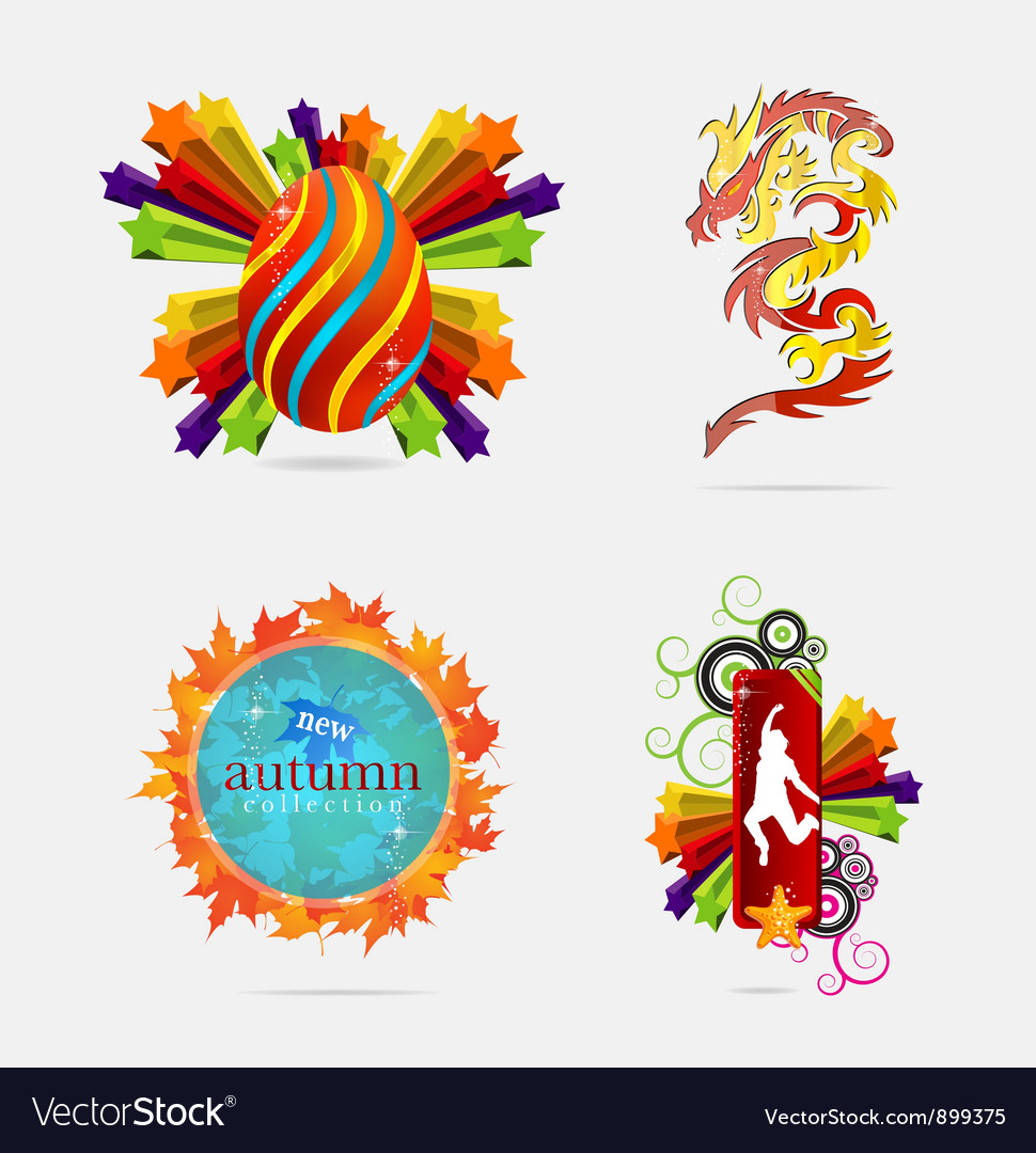 Concepts creative sign and emblems vector