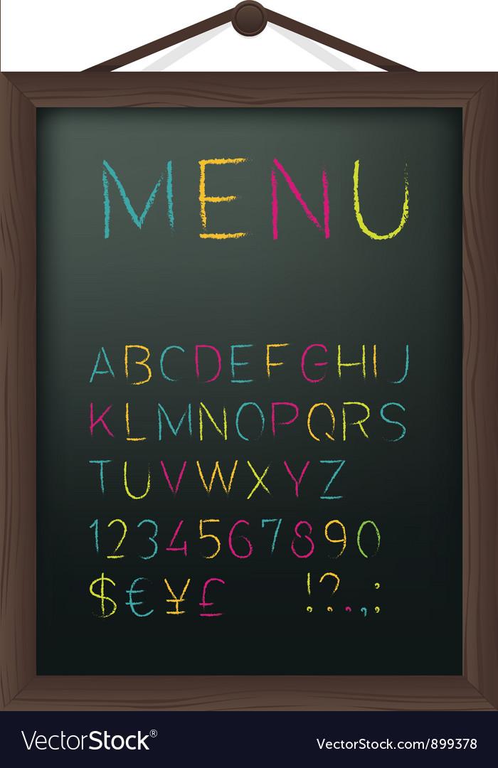 Cafe menu board vector
