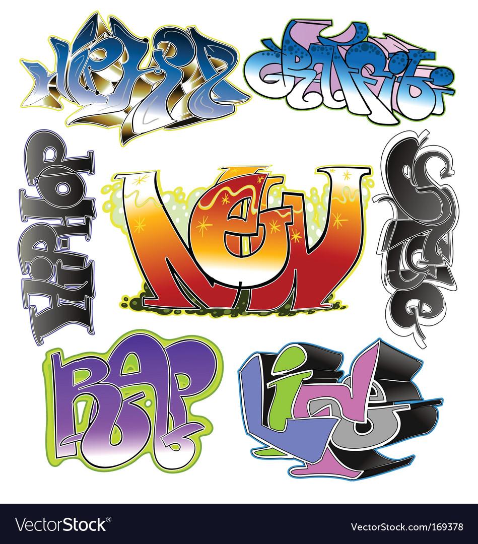 Graffiti design vector