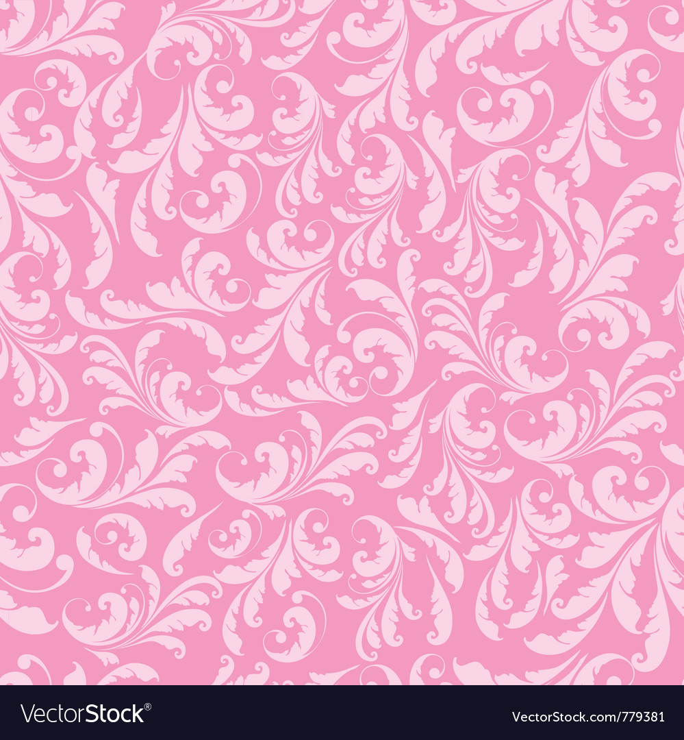 Floral pink pattern vector