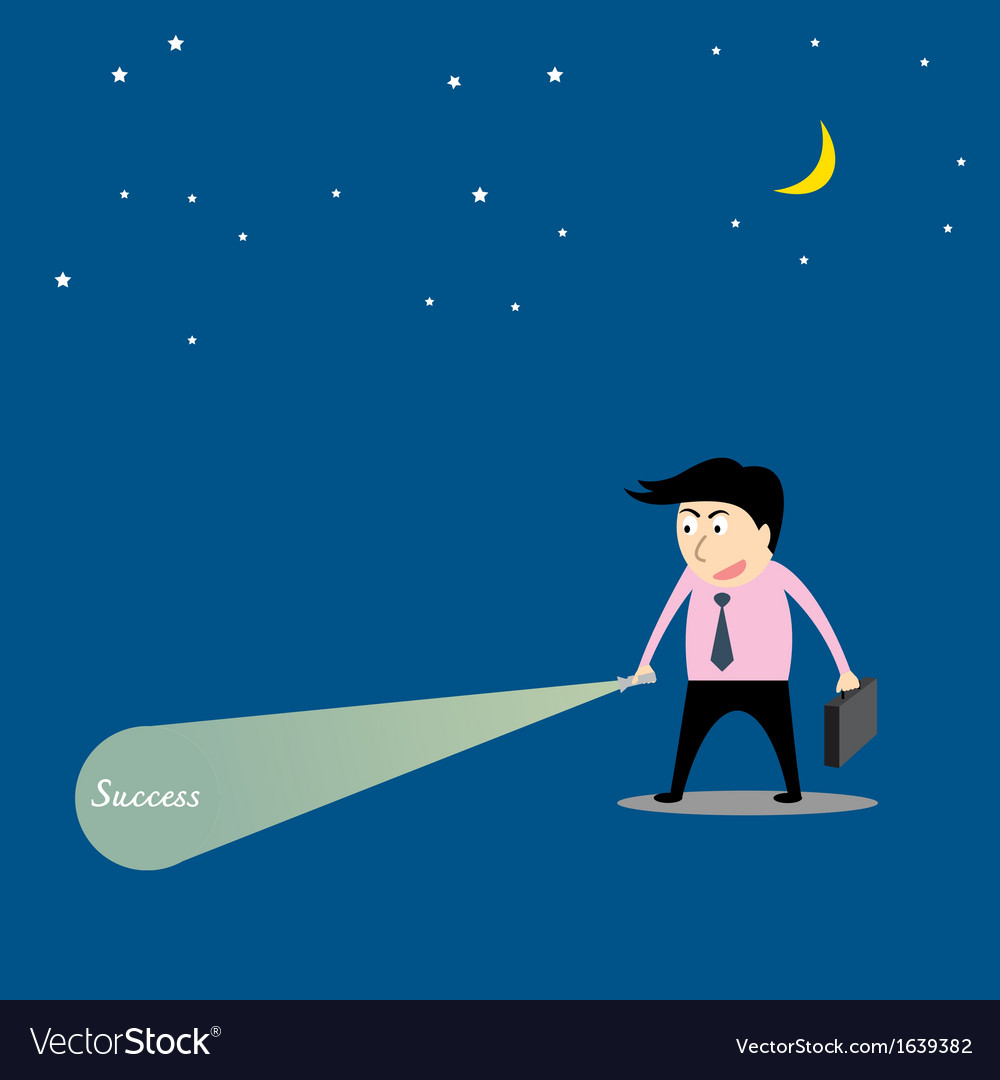 Businessman are searching success vector