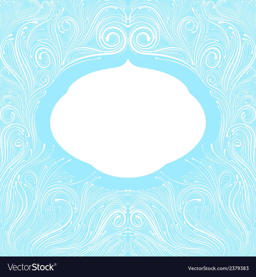 Blue frame vector