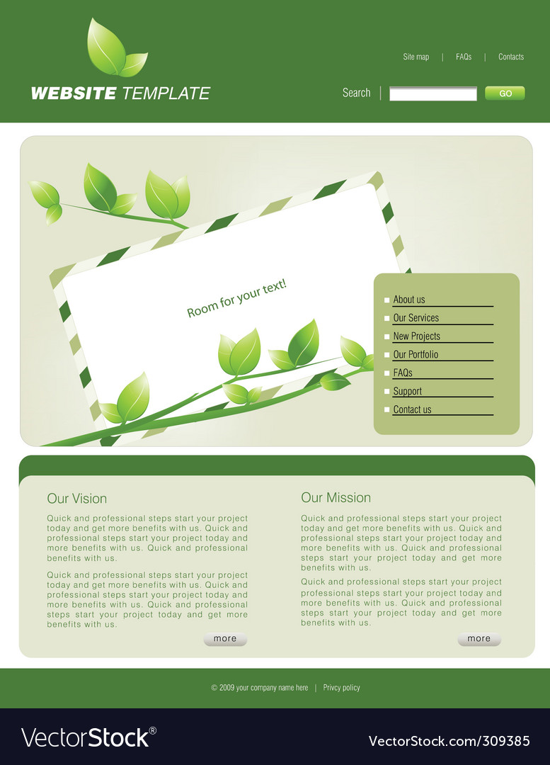 Website nature vector