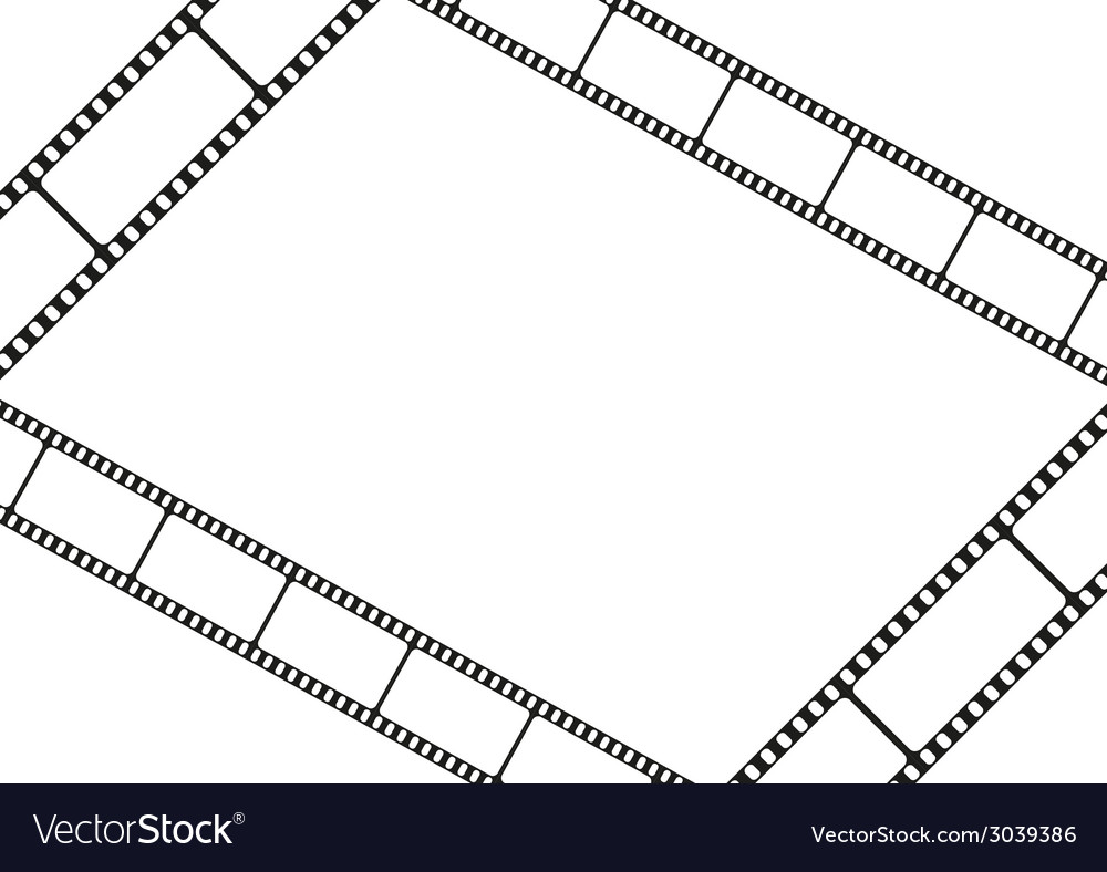 Film strip template card movie theater frame vector