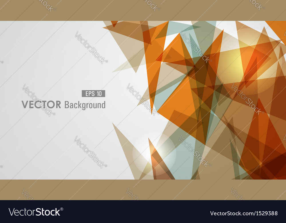 Warm tones geometric transparency vector
