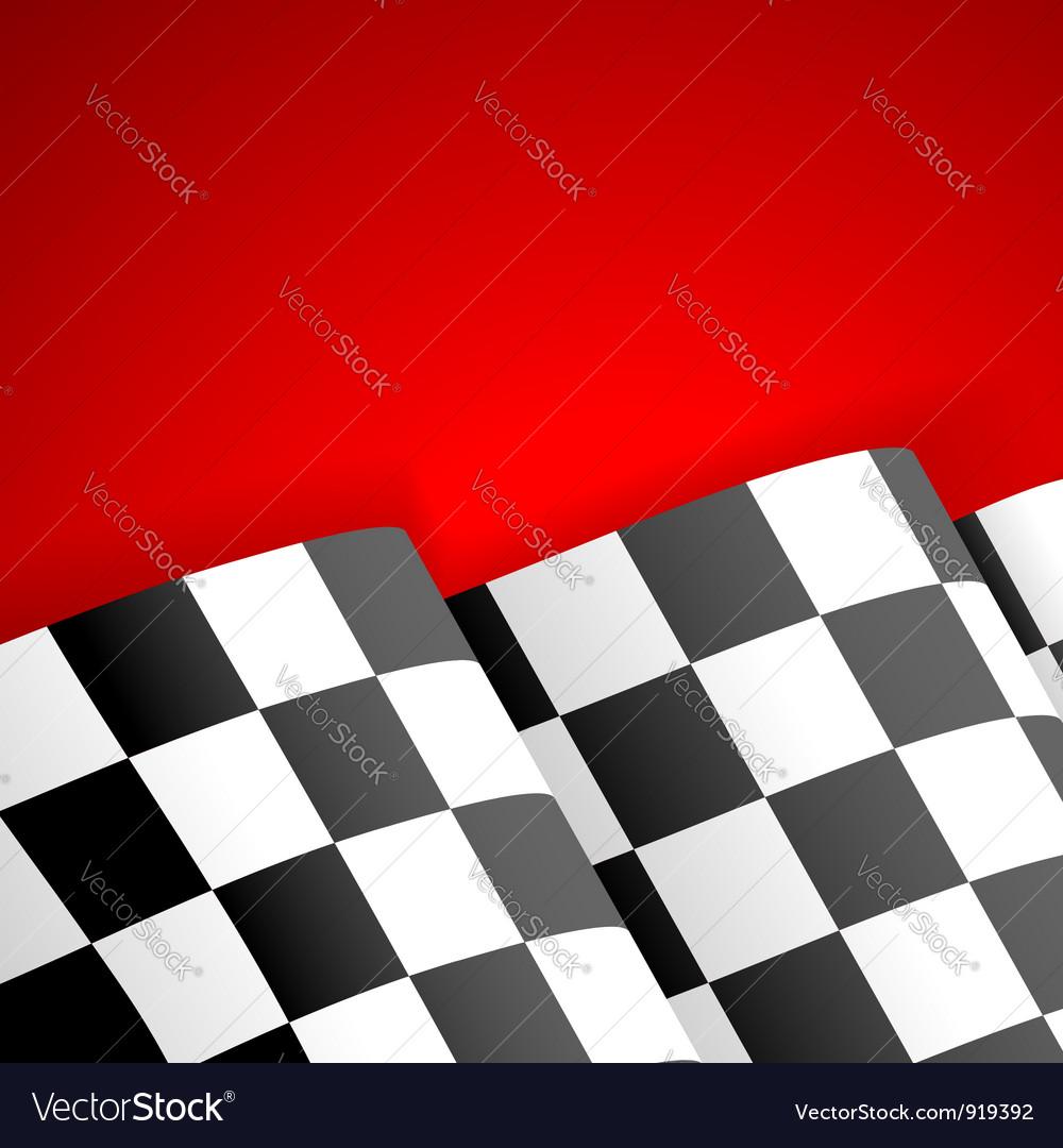 Racing checkered flag finish vector
