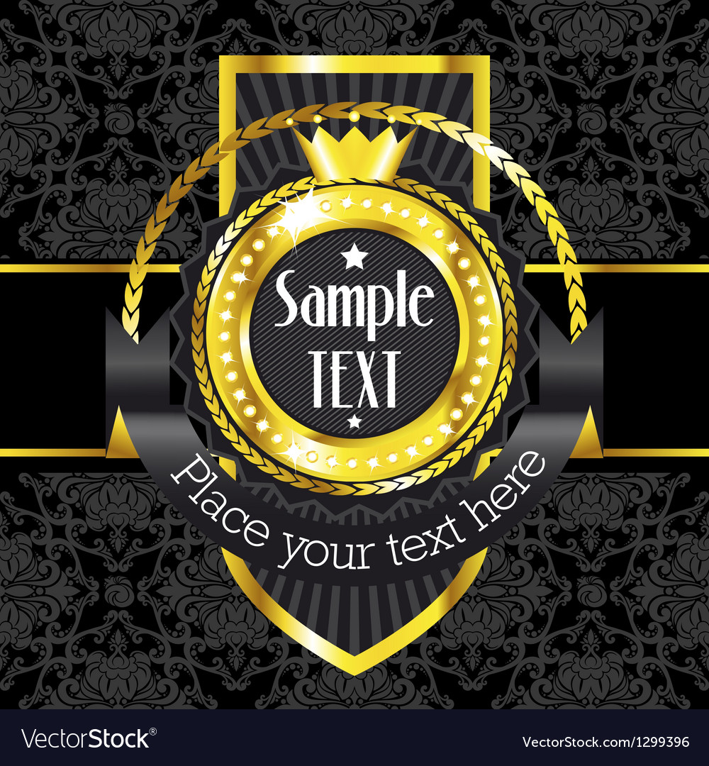 Luxury golden vintage label vector