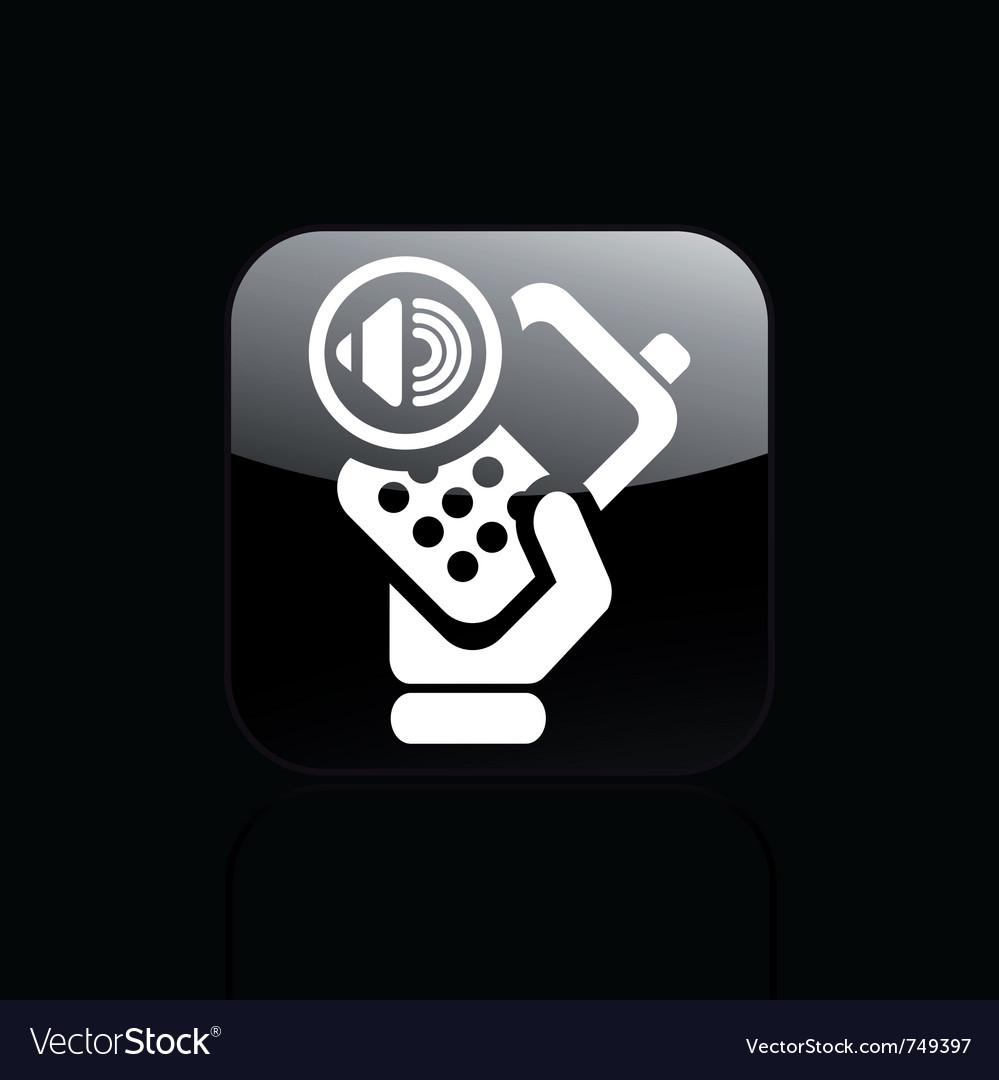 Audio phone icon vector