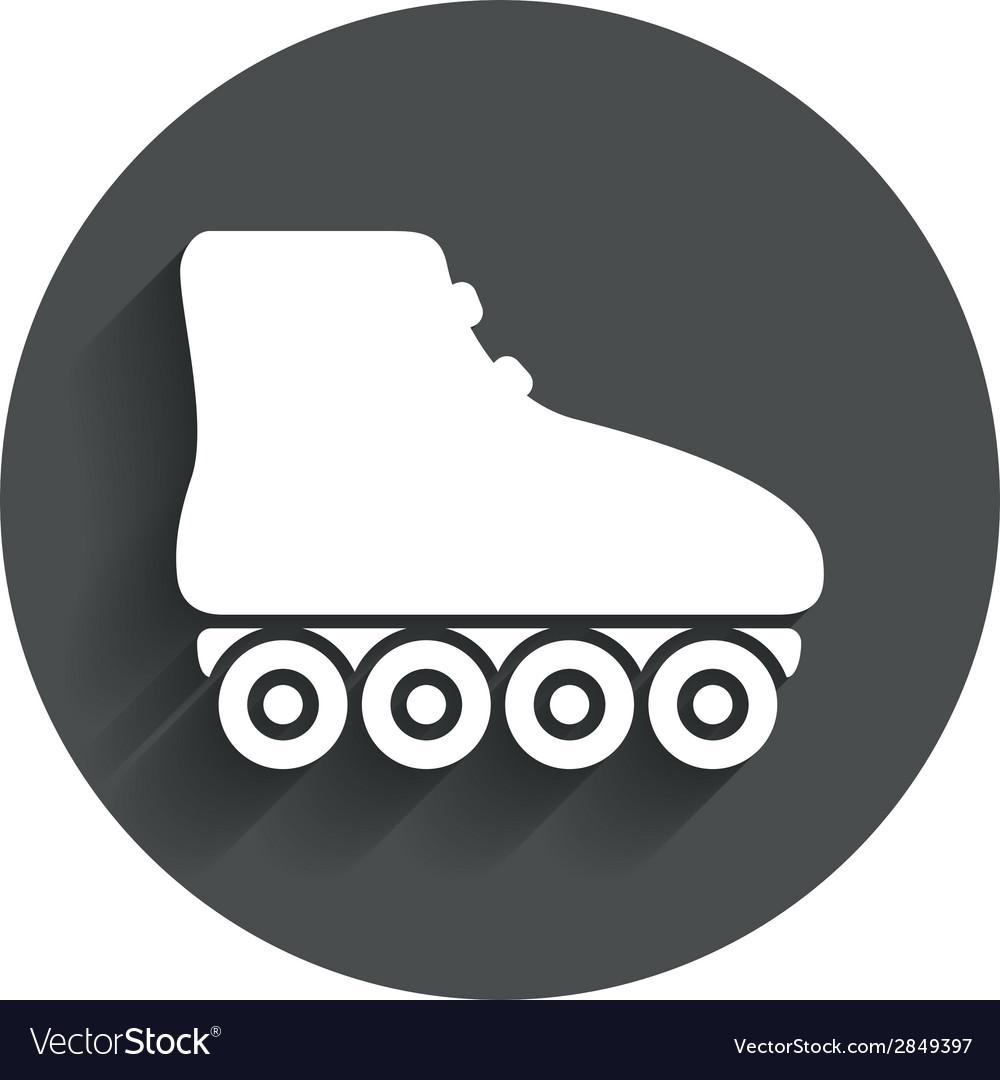 Roller skates sign icon rollerblades symbol vector