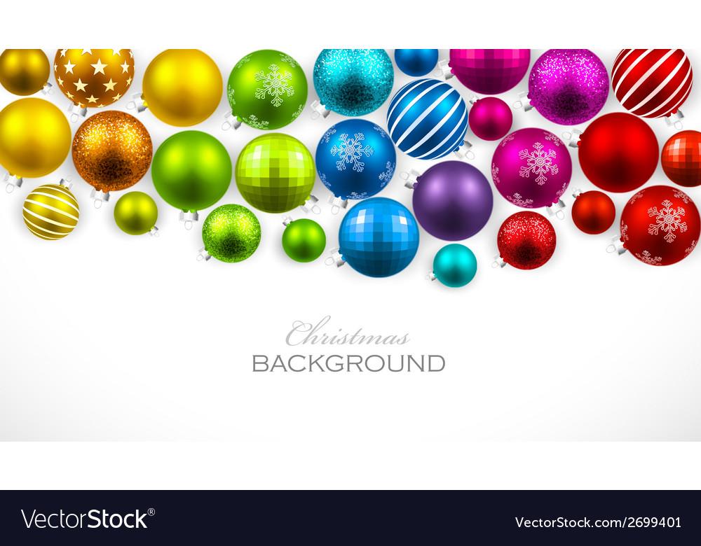 Christmas color balls vector