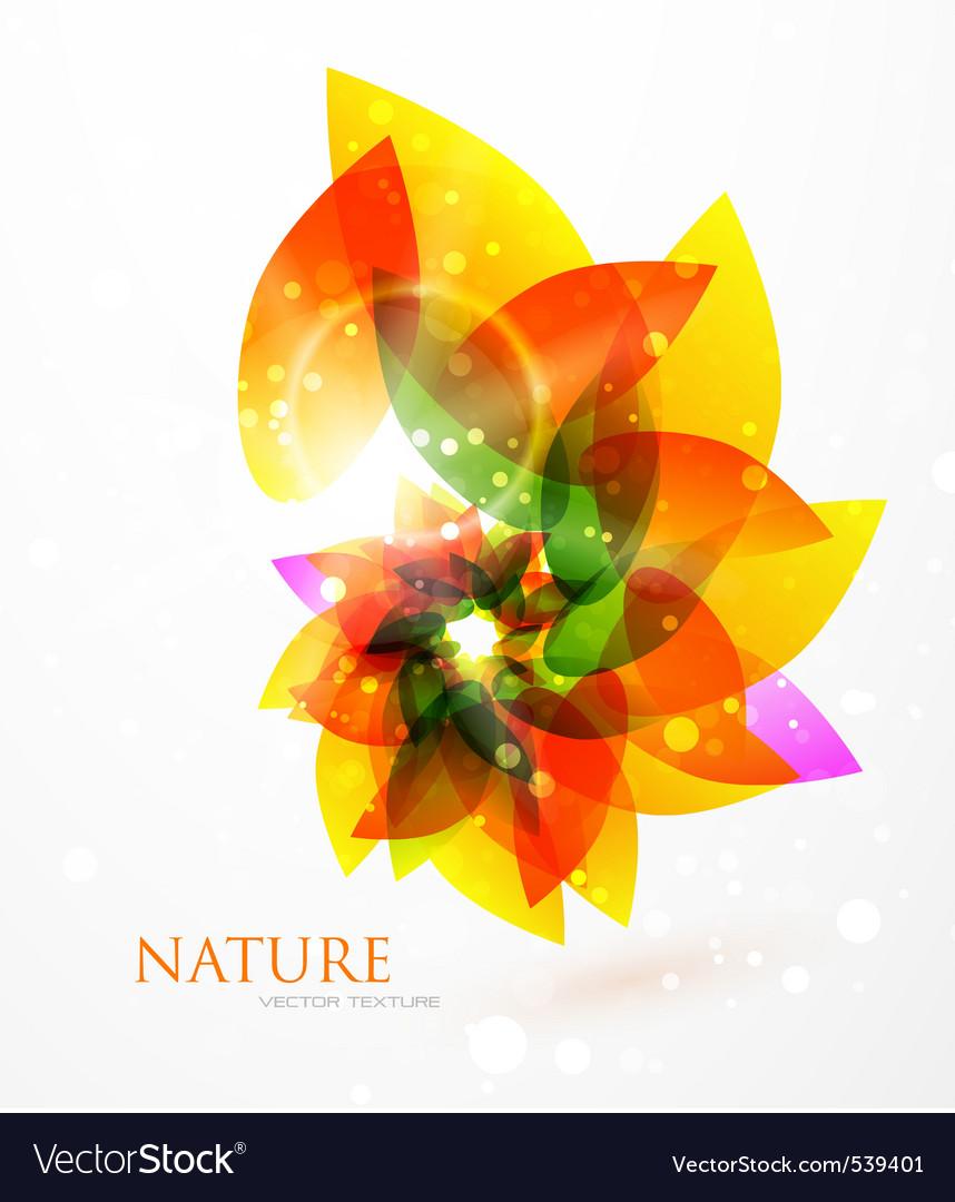 Creative leaves vector