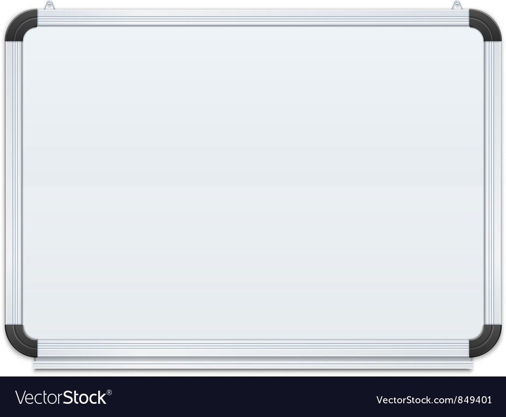 White board vector