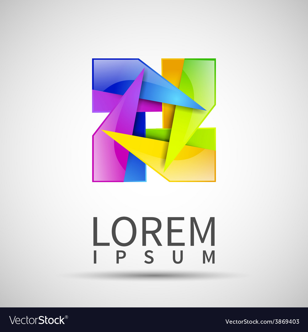 Abstract logo templates infinite shapes square vector