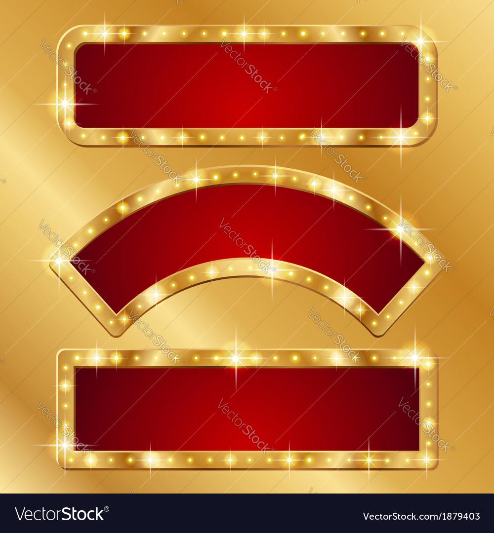 Flash banner gold vector