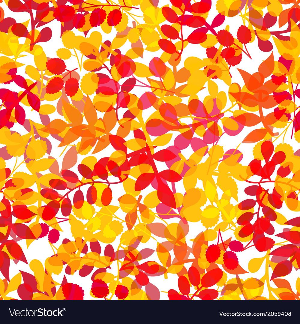 Seamless leaf patternleaf background autumn vector