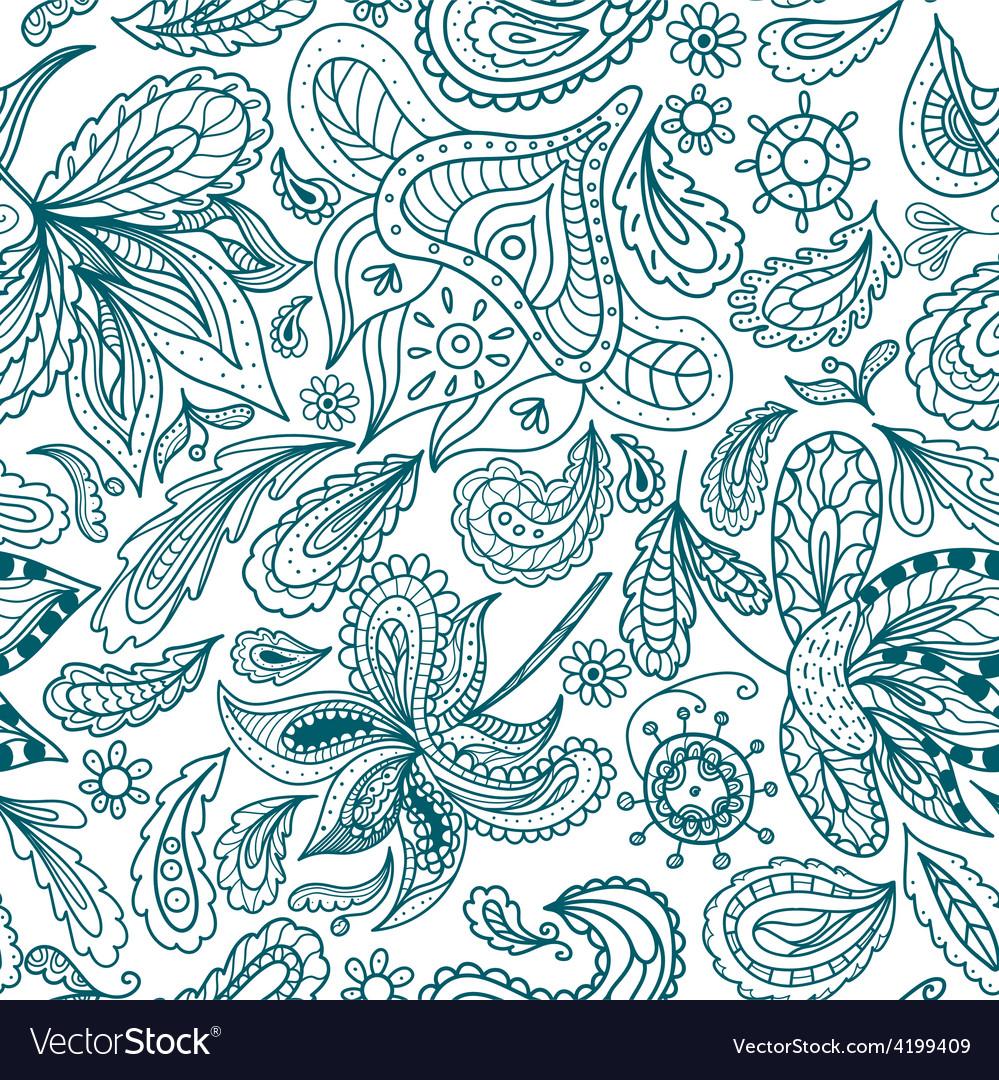 Ornamental indian pattern vector