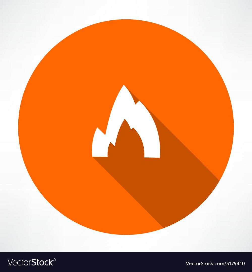 Bonfire icon vector