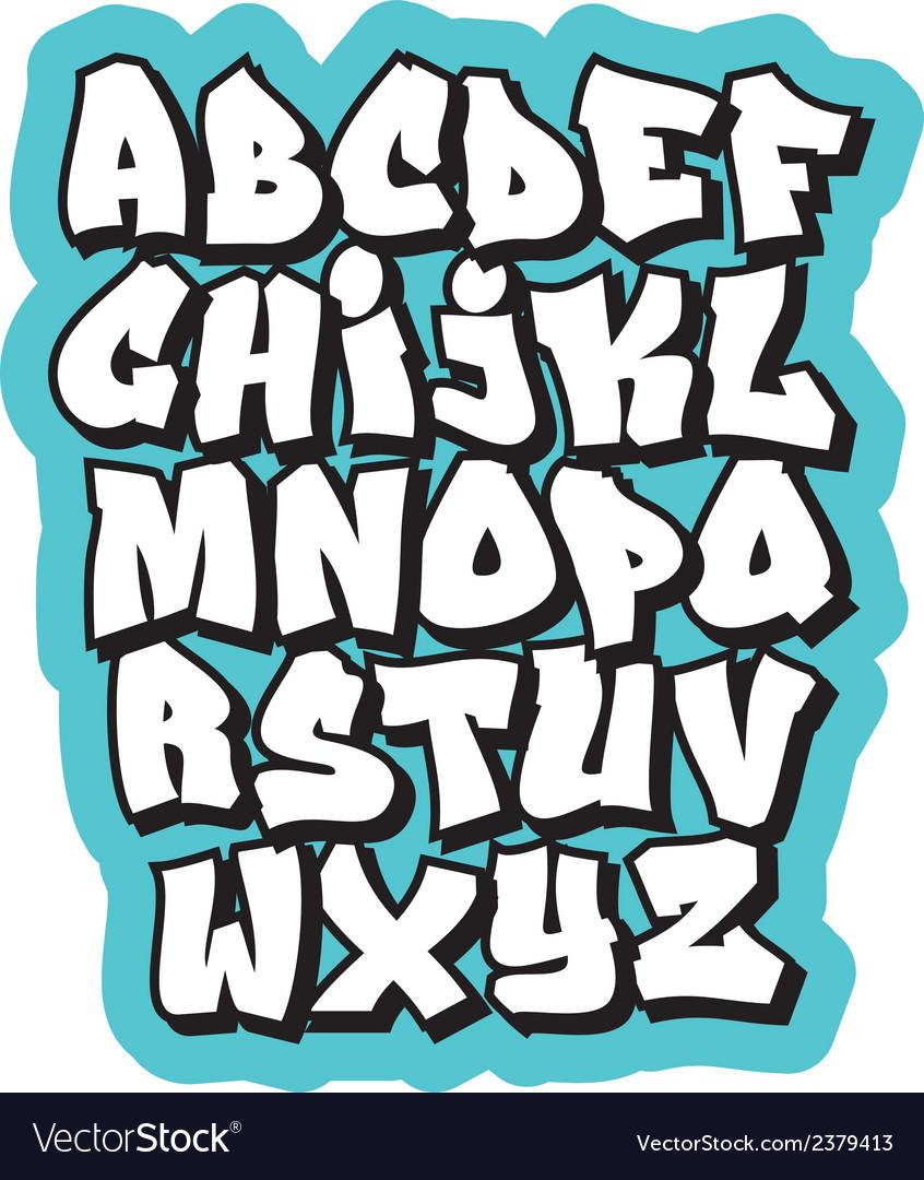Cartoon comic doodle font alphabet vector