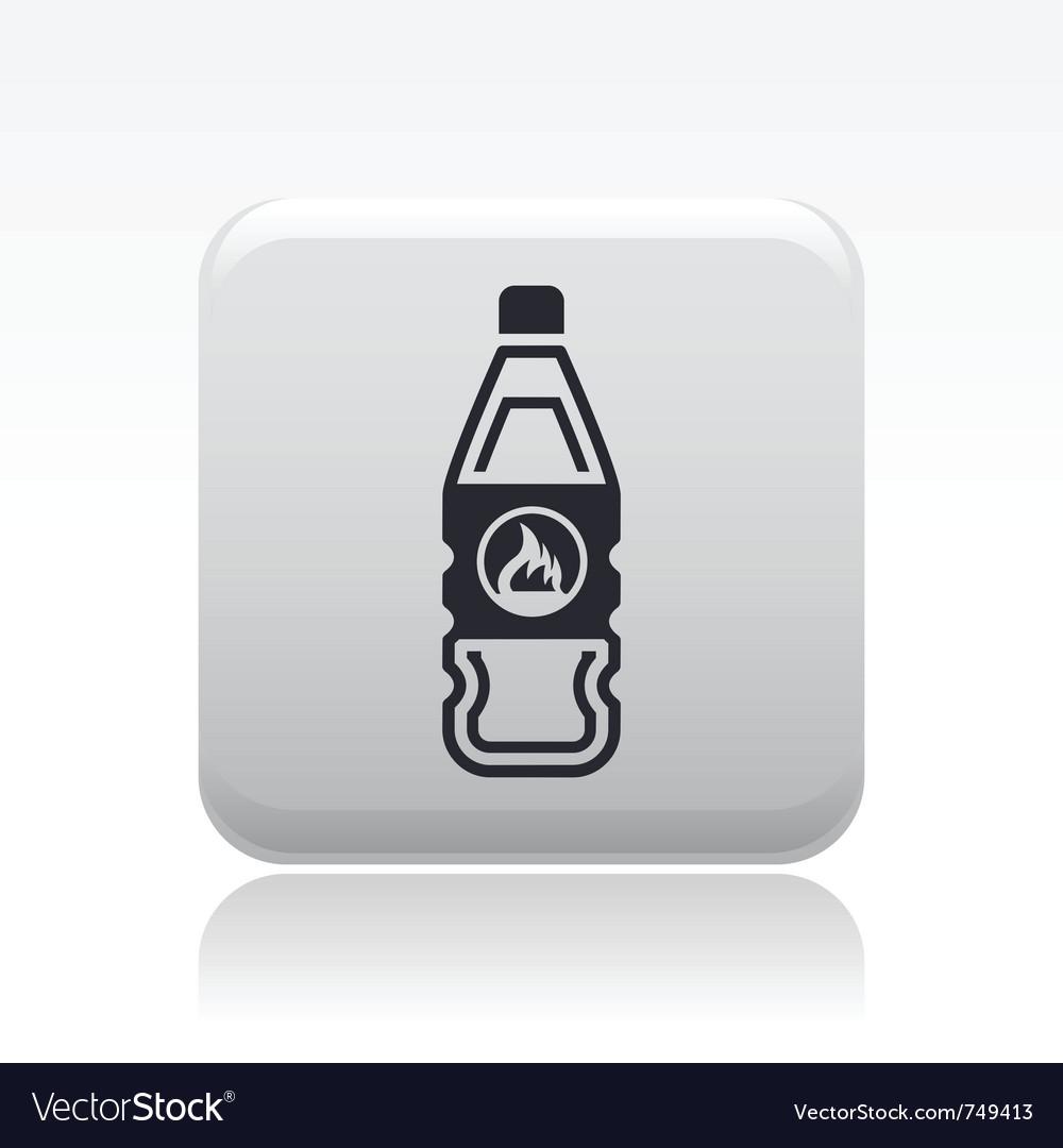Flammable bottle icon vector