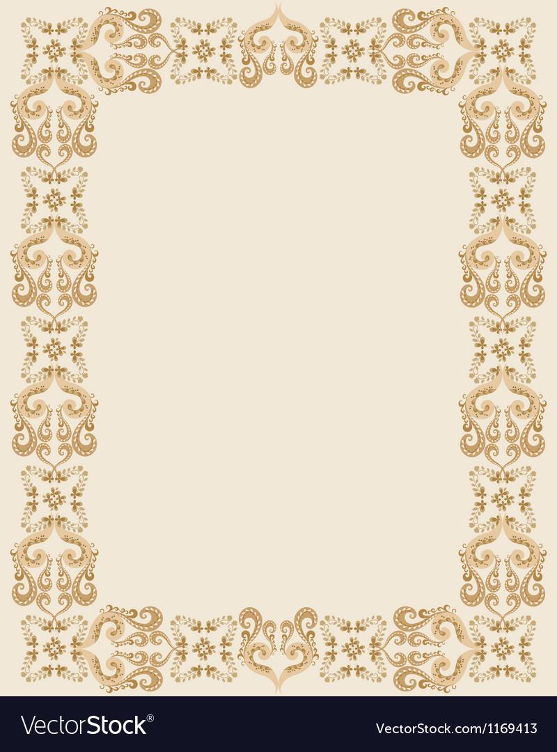 Gothic rectangular frame vector