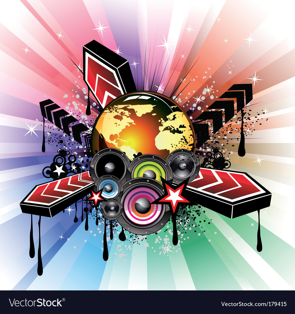 Global musical event background vector